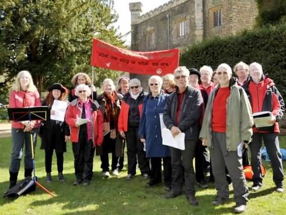East Lancs Clarion Choir at May Day Rally 2016